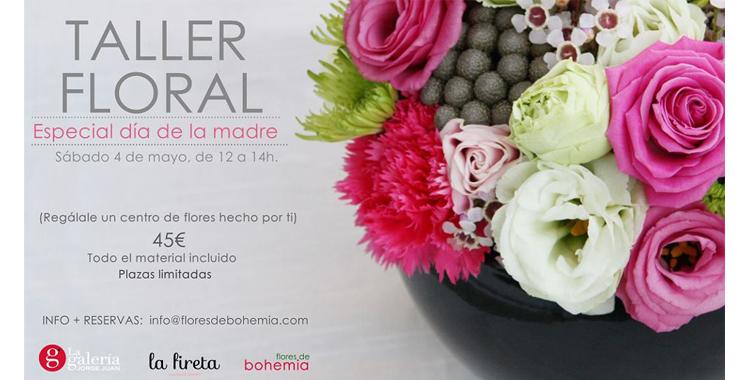 Taller de Flores de Bohemia en la Galería Jorge Juan
