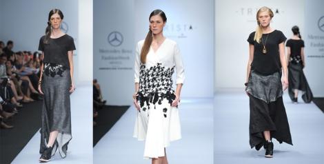 Blanco y negro también en la colección de Trista