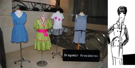 Las propuestas de Dragomir Krasimirov expuestas en el hall del hotel