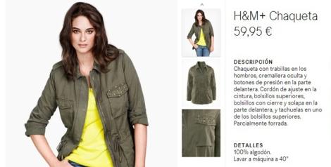 Chaqueta militar de H&M plus