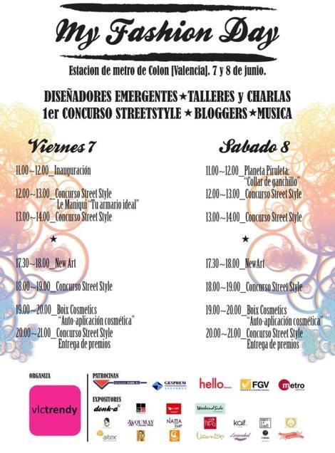 Cartel de My Fashion Day organizado por Valencia Trendy