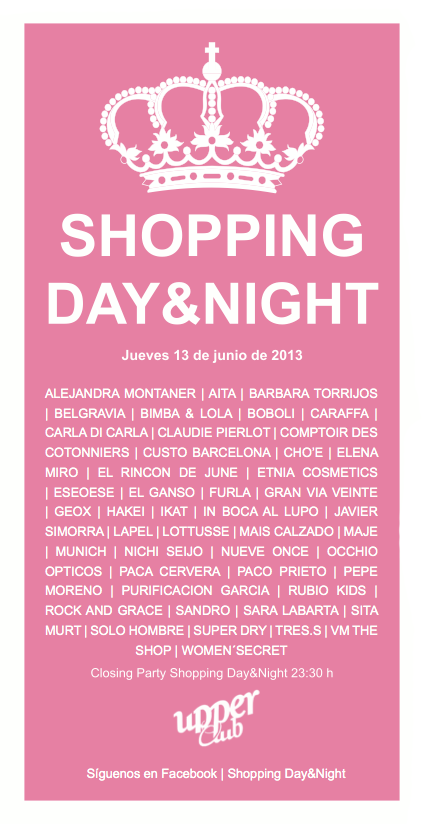 Shopping day and night organizado por los comercios del centro de Valencia