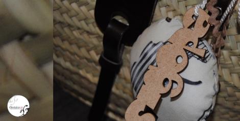 Detalle decoración capazo marrón de sigopa