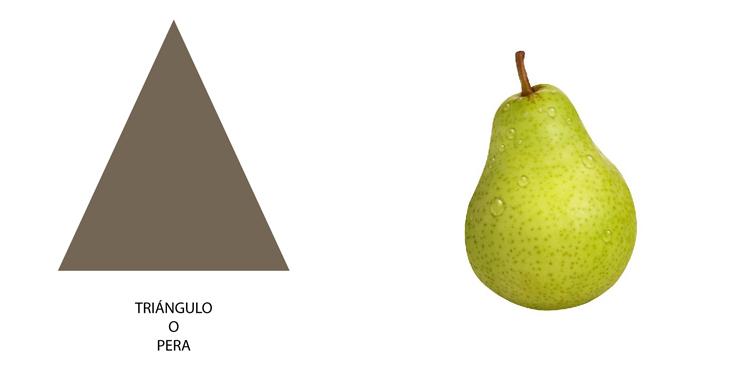 Tipo de cuerpo triángulo o pera (las caderas son más amplias que los hombros)