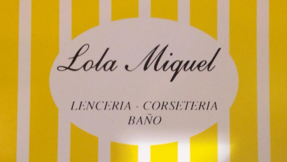 Imagen corporativa de la Lencería Lola Miquel