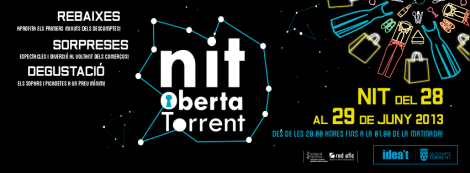 Imagen oficial de la Nit Oberta Torrent verano 2013