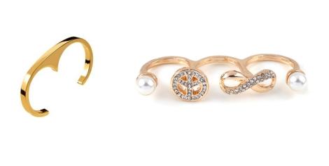Anillo puño mini de Aristocrazy y propuesta de anillo para tres dedos de i-luv-it.com