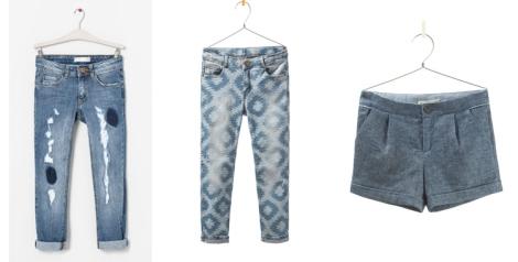 Vaqueros y shorts para niña de Zara Kids