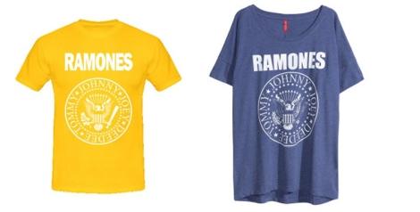 Camiseta de Los Ramones de (www.camisetasmdr.com) y de H&M de la nueva colección otoño invierno 2014