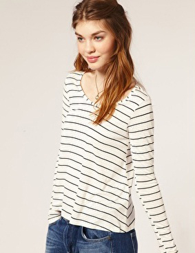 Camiseta de rayas marinera Asos
