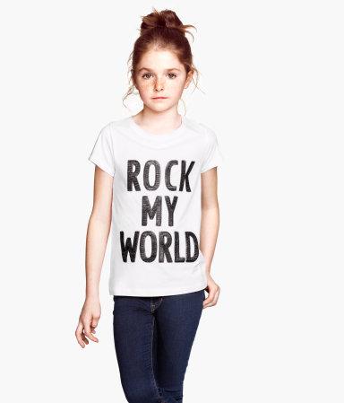 Camiseta de algodón niña de H&M