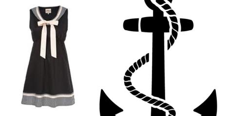 Vestido de verano estilo marinero. Imagen de  lfmodayestilo.blogspot.com.es