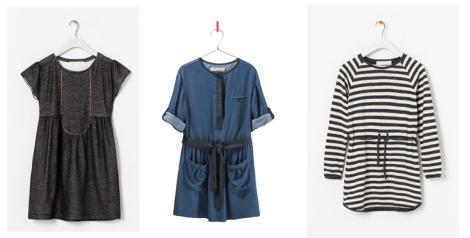 Vestidos de Zara Kids con colores oscuros y rayas para este invierno