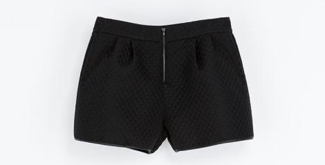 Short acolchado de Zara por 25.95 euros