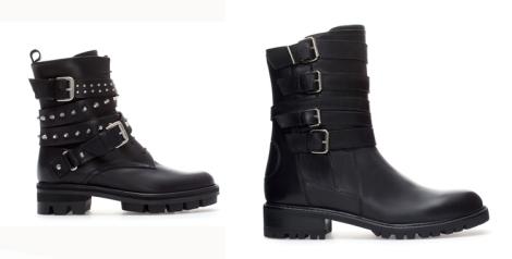 Las botas militares de Zara son un must de temporada