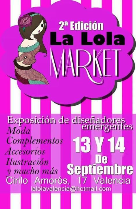 La Lola Market estará abierta al público los días 13 y 14 de septiembre en la calle Cirilo Amorós (Valencia)