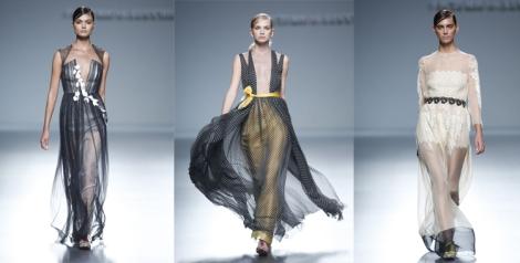 Los vestidos largos potencian al máximo la vaporosidad de los tejidos, marcando la silueta de la mujer en la cintura