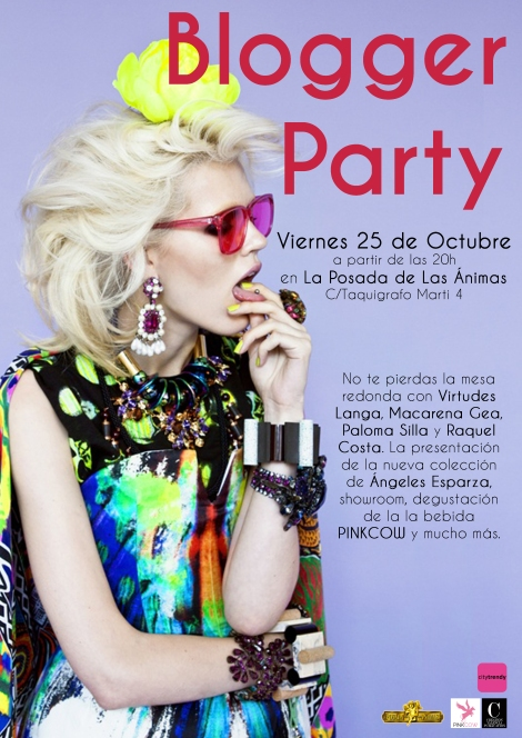 Cartel de la Blogger Party organizada por City Trendy