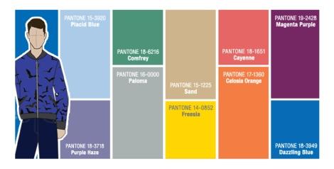 Colores que Pantone sugiere para la primavera de 2014 para hombre