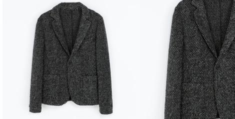 Blazer de lana de Zara Man