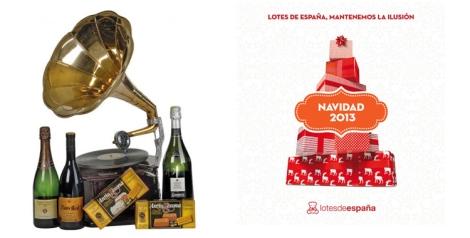 Uno de las cajas que oferta Lotes de España para las Navidades 2013