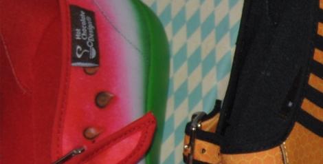 Detalle Chocolatica de sandía y etiqueta de las auténticas manoletinas venezolanas