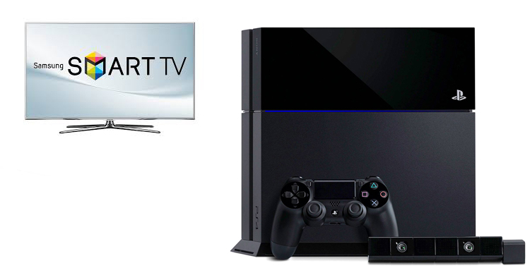 Smart TV de Samsung y Play Station 4 de Sony