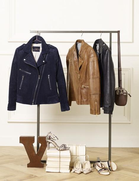 Bikers y chaqueta de piel de la colección Violeta