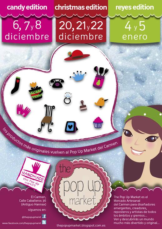 Cartel oficial de las próximas ediciones del Pop Up Market en diciembre de 2013
