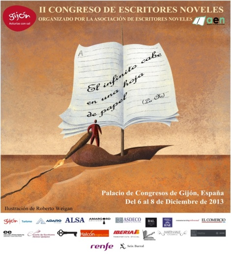 Cartel e imagen oficial del II Congreso de Escritores Noveles