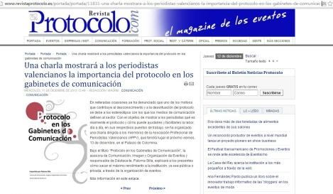 Imagen de la convocatoria del evento de la edición digital de la Revista Protocolo
