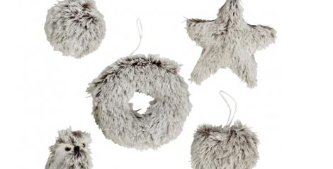 Adornos de la colección FUR de Casa. Los peluches llegan para dar calor y ternura  a la Navidad