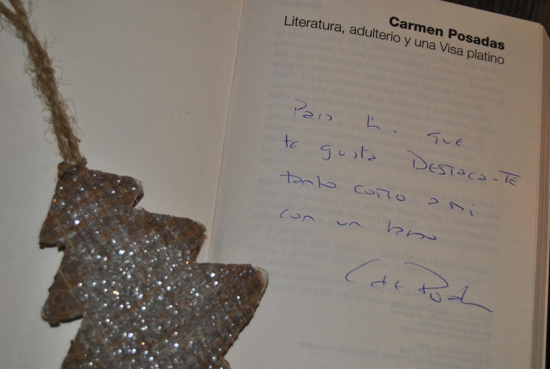 Una dedicatoria muy especial de Carmen Posadas