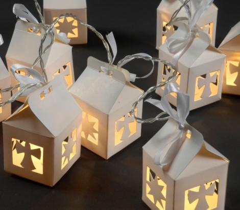 Guirnalda de iluminación blanca de Casa