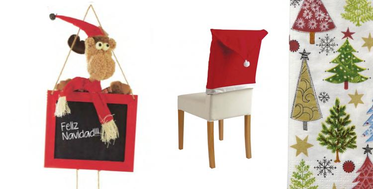 Pizarra de Leroy Merlyn, cubre sillas y servilletas de Casa