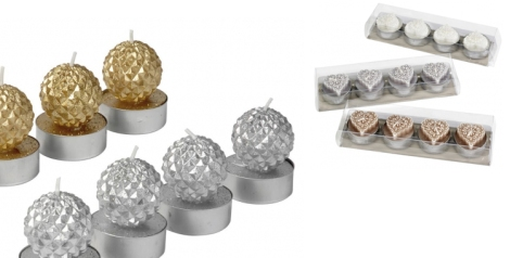 Velas Lace y Diamonds de Casa. Ideales para decorar el centro de tu mesa y todos los rincones de tu casa en Navidad. Si no quieres comprar un centro, con un par de velas y un poco de imaginación puedes hacer unos centros de mesa y portavelas magníficos.