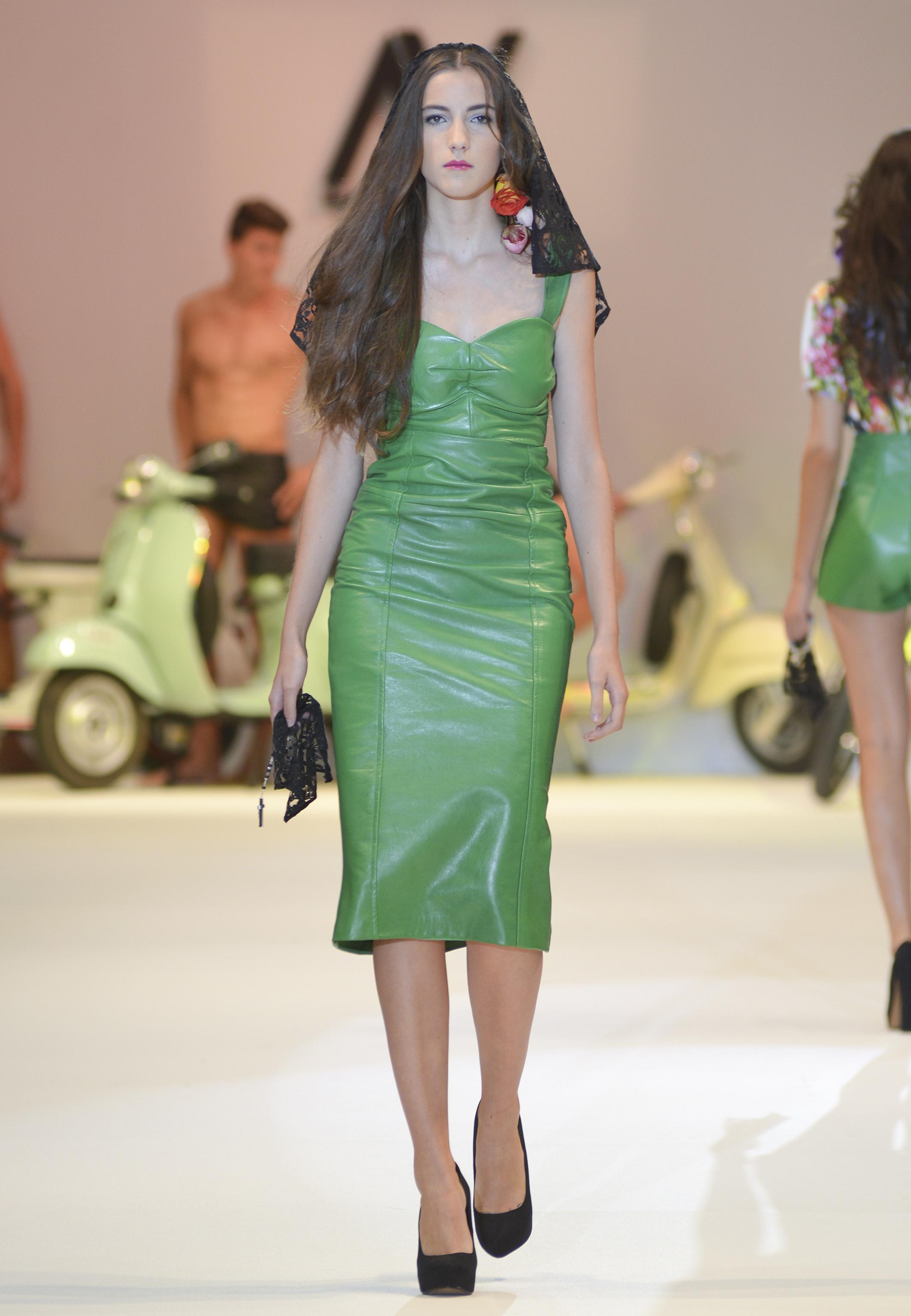 Vestido verde de Virtudes Langa