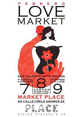 Aquí os dejo el cartel oficial del market de San Valentín que Place prepara para febrero