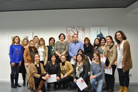 Foto de familia de los asistentes al curso de Organización de Eventos en l'Espai