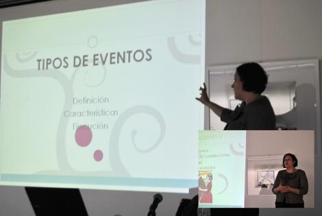 Durante el curso se dieron consejos para organizar eventos