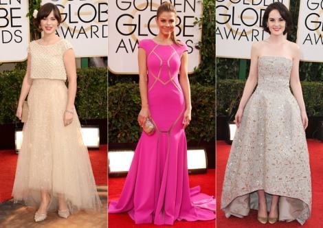El color nude tampoco faltó en la Red Carpet en la nueva edición de los Globos de Oro 2014. Imagen: Revista Hola