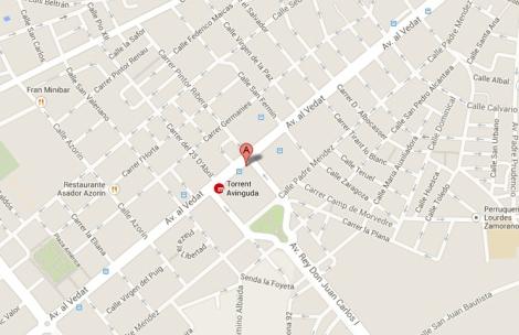 Localización de l'espai de Torrent donde se celebrará el curso de organización de eventos
