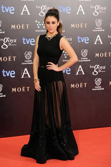 Blanca Suárez se sumó a las transparencias con un magnífico modelo total black del diseñador Elie Saab