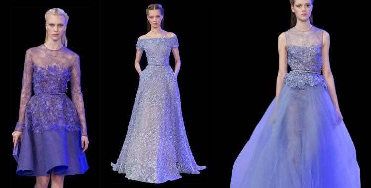 Azul para vestidos que marcan la cintura y estilizan la figura de la mujer