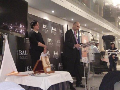 Intervención del secretario de AEN, José Luis Jarne en el acto de clausura donde se homenajeó a Luis Adaro