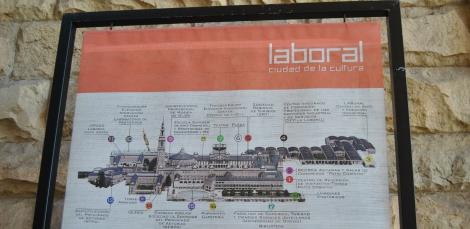 Detalle del plano de La Laboral de Gijón