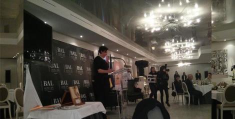 Aquí presentando la cena de clausura del congreso en el Bal Hotel & Spa
