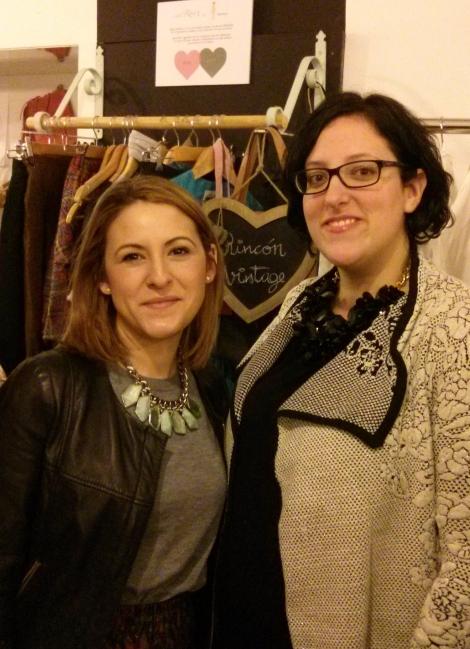 Con Sandra Alcaraz de La Vie In Rose en la blogger party