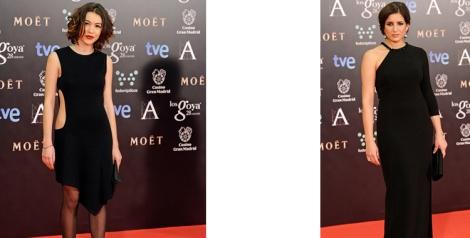 Imágenes de Vogue. Montaje Destáca-te. El total black protagonista en la alfombra roja de los Goya 2014