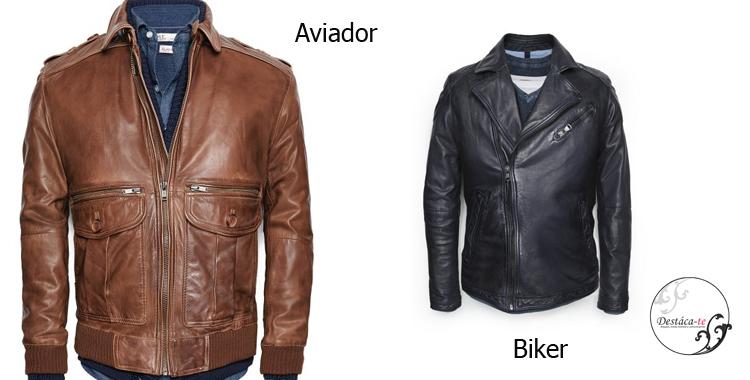 Las cazadoras de piel tipo biker o aviador también dan un toque fresco a cualquier look